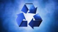 Recycling Symbol Blau