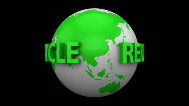 Recycle World with Alpha Channel