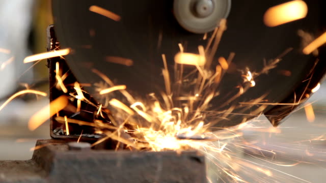 Recycling with angle grinder.
