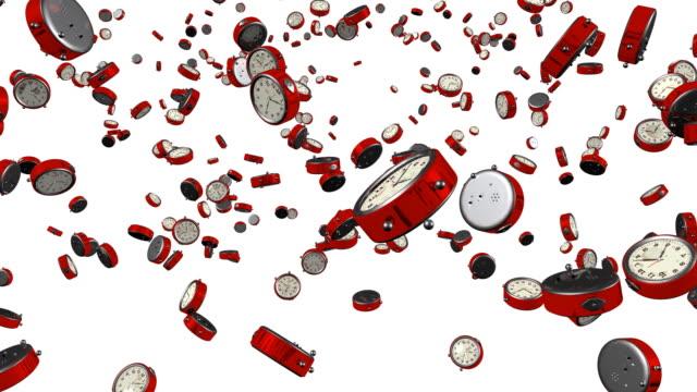 Red Alarm Clocks Bouncing