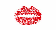 Lippen: red and white (LOOP