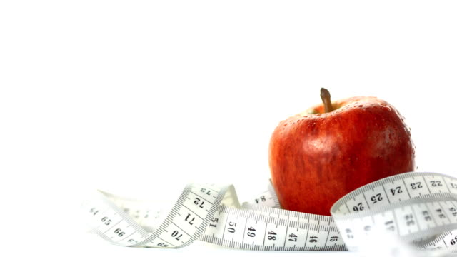 HD: Red Apple With Measuring Tape