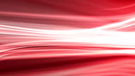 Red background animation of flowing streaks of light