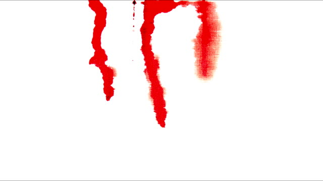 red blood blots on white colors