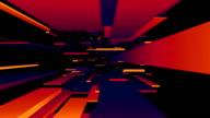 Rot/Blau/Orange Blocks Tunnel Loop/abstrakte futuristisch Animation