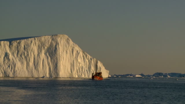 red boat against white ice part 2