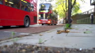 HD SUPER SLOW-MO: Red Buses In London