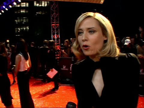 Red carpet arrivals and interviews at Fashion Rocks 2007 Roisin Murphy interview wearing black Gucci dress SOT Use fashion to make bigger statements...