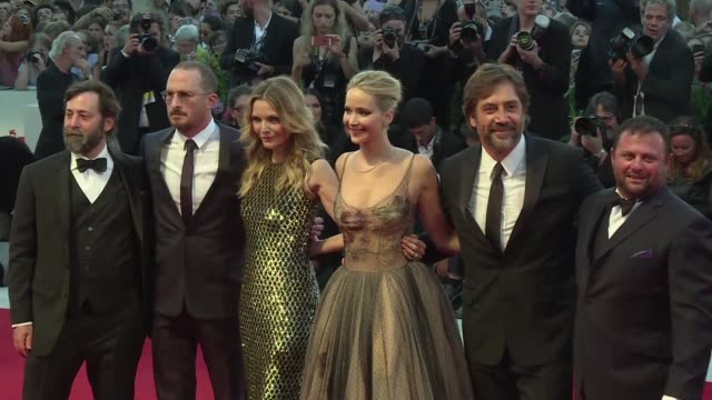 Red carpet for premiere of director Darren Aronofsky's mother a dark allegorical portrayal of an unravelling couple starring Jennifer Lawrence and...