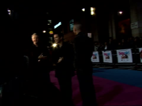 Red carpet interviews at premiere of 'It's a Boy Girl Thing' Red carpet arrivals including Trinny Woodall and Sting / Louie Walsh and Stephen Gately...