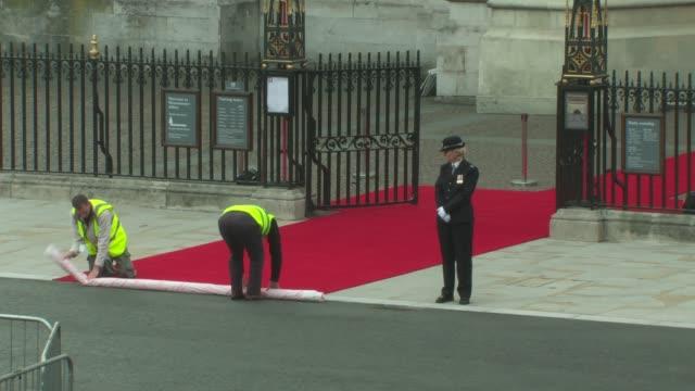 Red Carpet Layers at the Royal Wedding Crowd General Views at London England