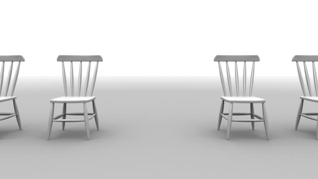 Red Chair Falling Render