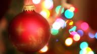 Rote Christbaumkugel Spinning (Endlos wiederholbar