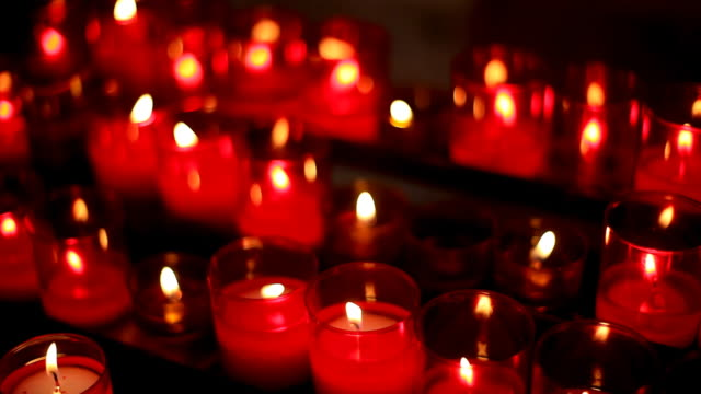 red church candles