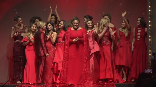 Red Dress Finale at The American Heart Association's Go Red For Women Red Dress Collection 2017 Presented By Macy's at Hammerstein Ballroom on...