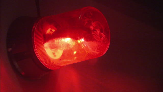 CU ZI ZO Red emergency flashing light / County Cork, Munster, Ireland