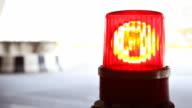 Roten Lichter blinken Notfall