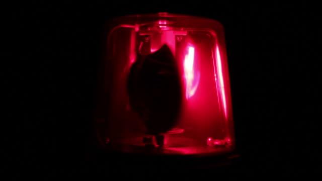 Red flashing warning siren light - Emergency services