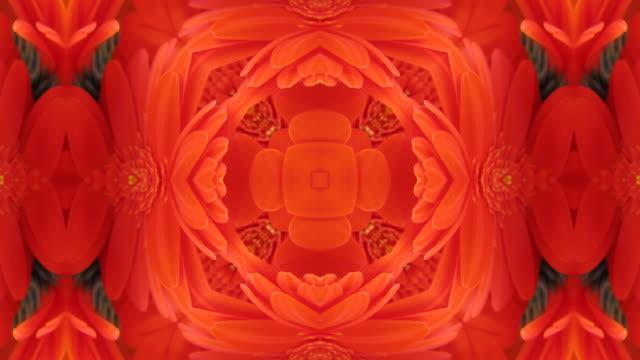 Red Flowers Kaleidoscope