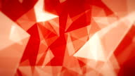 Red Geometric Triangles (Loopable)