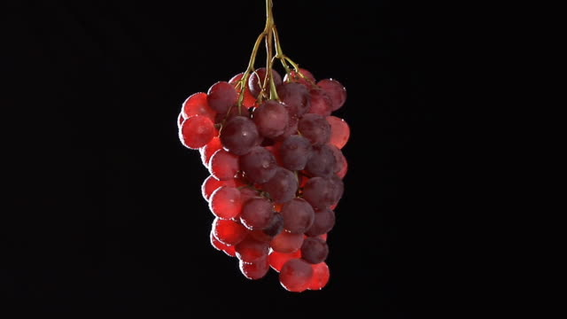 HD: Red Grapes Rotating