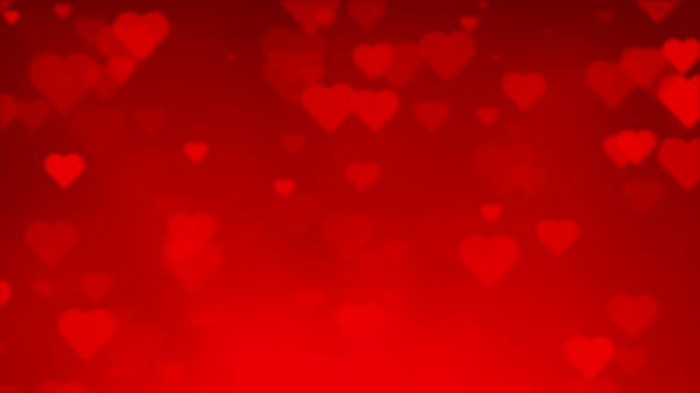 Red Heart Background Seamless Paritcles