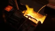 Red hot molten silver flows from a ladle into a mould at the KHGM Polska Miedz SA smelting plant in Glogow Poland on Monday March 23 2015