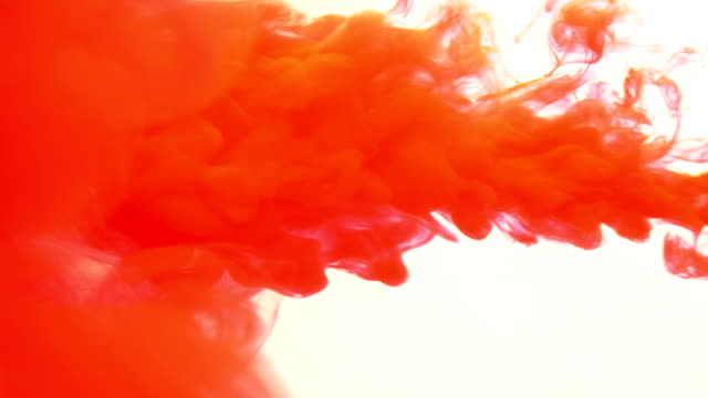 Red Ink in Water Slow Motion