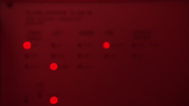 Red lights flicker on a TL/OSL System table in a lab.