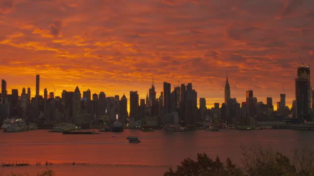 Red Manhattan Skyline