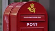 Red Post Box in Copenhagen