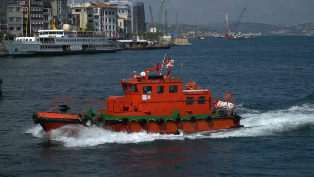 Red Rescue Boat
