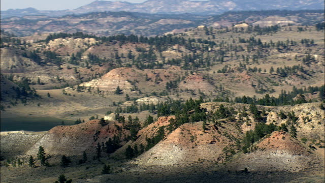 Red Rocks In Crow Indian Reservation  - Aerial View - Montana, Big Horn County, United States