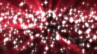 Red Sparkles Background Loop