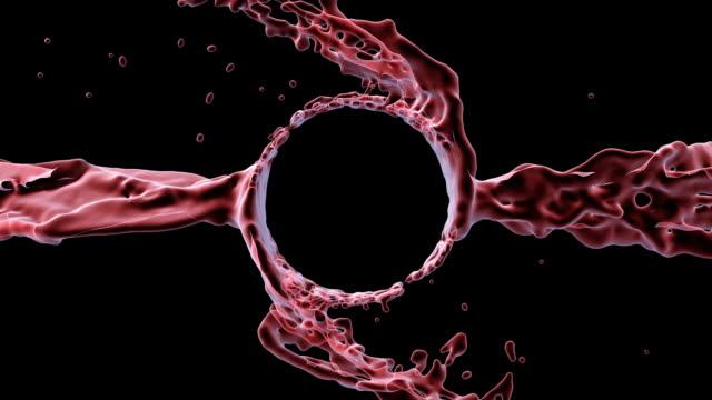 Red Spinning-Sprays im Raum Abstraktion, Copyspace.