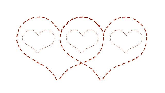 Red stiched hearts