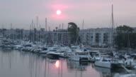 (HD1080i) Red Sun Water