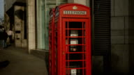 Red telephone box in London, Charing Cross