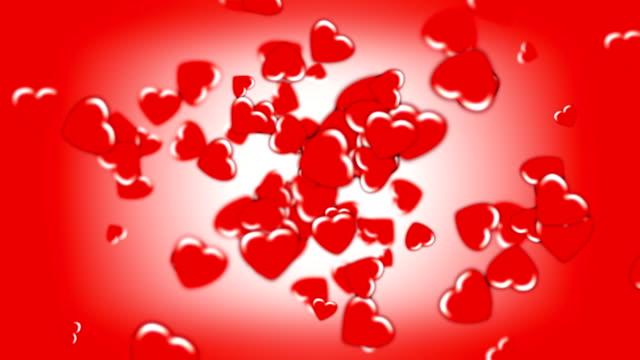 Rosso San Valentino cuori trovare la strada (seamless loop) HD (1080 i