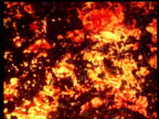 Red volcanic lava or molten steel effects