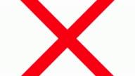 Rote X verboten-Schild
