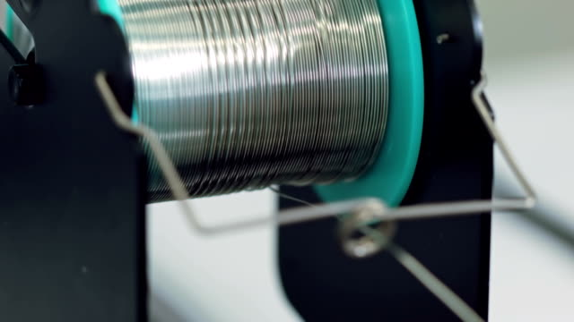 Reel of tin wire