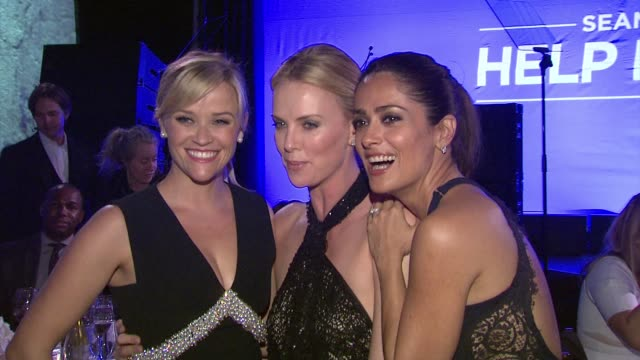Reese Witherspoon Charlize Theron Salma Hayek at 4th Annual Sean Penn Friends HELP HAITI HOME Gala Benefiting J/P Haitian Relief Organization in Los...