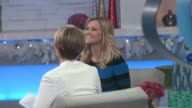 Reese Witherspoon with Amy Robach on the set of the Good Morning America show in Celebrity Sightings in New York