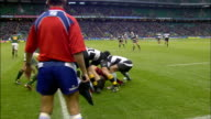 A referee calls a penalty on the Springboks after a tackle Barbarians v Springboks 4th December 2010 Available in HD