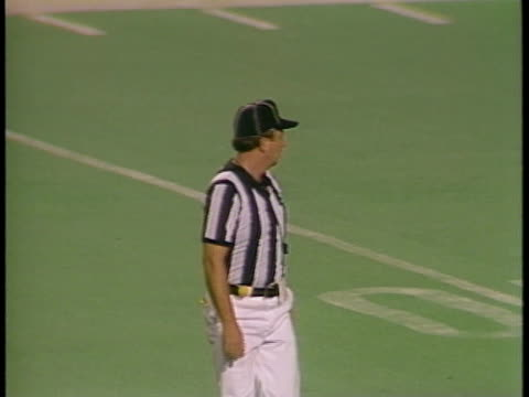1985 MS referee making call in game between Portland Breakers and Birmingham Stallions/ Portland, Oregon