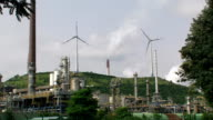 Refinery and Wind Turbines