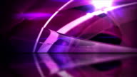 Reflective Floor Background Loop - Abstract Glassy Rings Pink HD