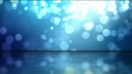 Reflective Floor Background Loop - Blue Glow (Full HD)