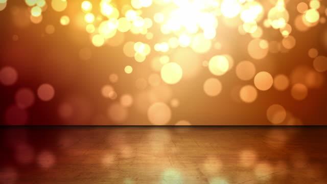 Reflektierende Etage Hintergrund Loop-Orange Glow (Full HD